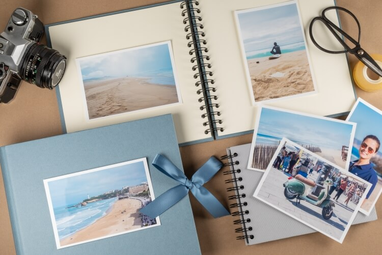 Photo albums and notebooks